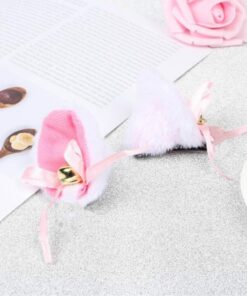 Hair-Clip Costume Cat Ears Cosplay Anime Halloween Sweet Girl Women Bell for Birthday-Party