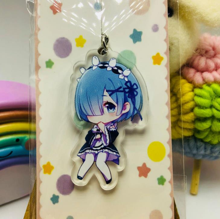 Keychains Toys Keyring Action-Figure Different-World Acrylic From-Zero Cute Anime Re:Life