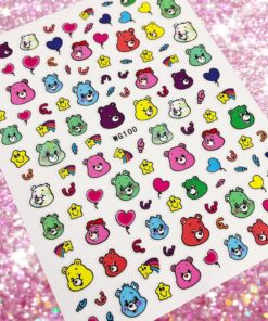 1 sheet 3D Nail Stickers Cartoons Anime Nail Art Stickers Decal Template diy nail tool decorations HL12