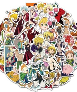 10/30/50Pcs Japan Anime The Seven Deadly Sins Cartoon Stickers For Laptop Luggage Motorcycle