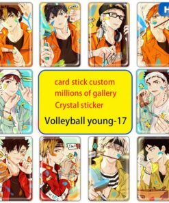Figures Toy-Stickers Card-Card Haikyuu Paster Decorat Bank Anime Kids 10pcs/Set Suitable-For