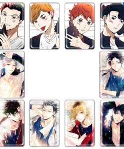 Stickers Card Haikyuu Anime Paster Collection Toy Gift Kids Student 10pcs/Set