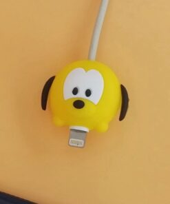 10pcs Cute Bite Anime Design Cable-Winder Organizer Silicone USB Charging Data Cable Line Protector Cord Cover Decorate