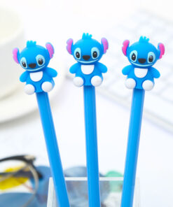 Pencil-Case Animal-Gel-Pen Stationary-Material Stitch Thing Kawaii Novelty Blue 12pcs/Pack
