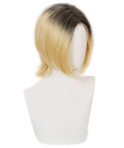 Cosplay Wig Hair-Styling-Tool-Accessories Fashion-Design Short 1pcs Yellow-Costume Anime