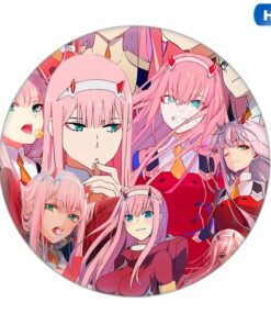 Collection-Bags Badges Backpacks Pins DARLING Anime FRANXX Cartoon-Zero Two-Pretty-Brooch