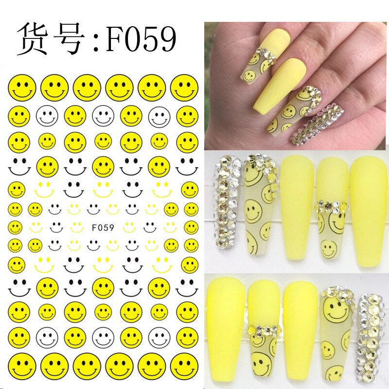 Nail-Stickers Anime Decal Decorations Cartoons 1pcs Diy Template Fdd-Series
