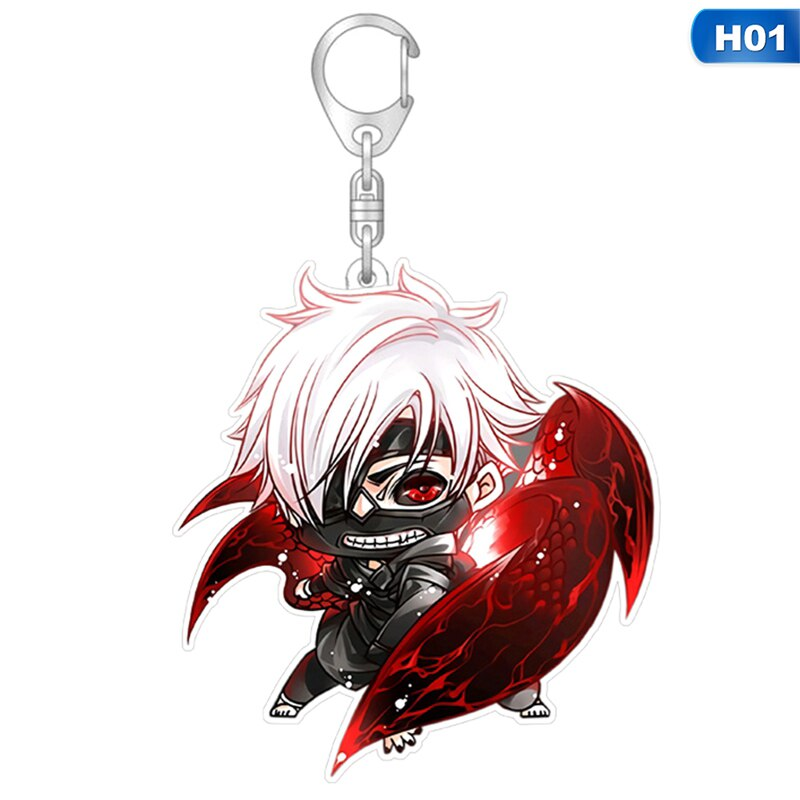 1pcs Tokyo Ghoul Keychain For Fans Sasaki Haise Acrylic Key Chain Pendant Anime Accessories
