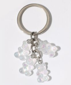 2 PCS Cute Crystal Keychain Anime Keychains Mothers Day Gift Phone Charm Safety Charm