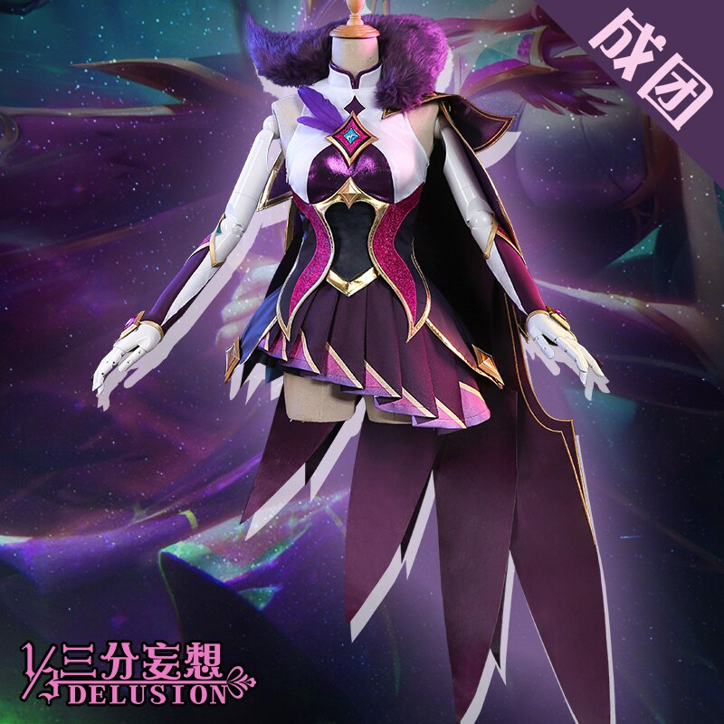 Star Guardian Cosplay-Costume Xayah Anime Magic-Girl Game LOL Rebel From-one-third/1/3-delusion