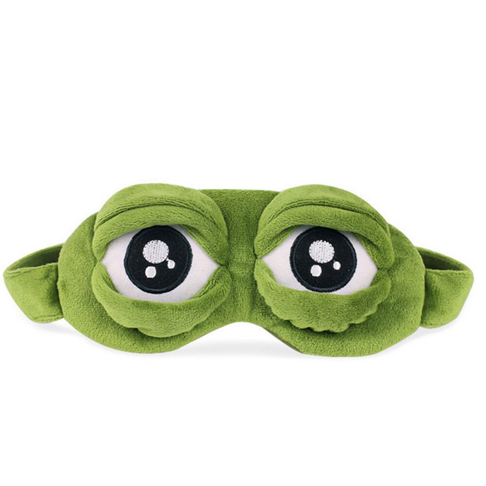 Eye-Mask Frog Sleeping-Rest Anime Funny Cover Cartoon Green New Gift Cute 3D A40 The-Sad