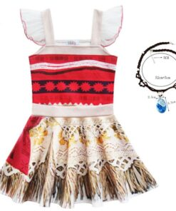 Costume Anime Princess-Dress Birthday-Party-Clothes Ballet-Moana Cosplay Kids Girls