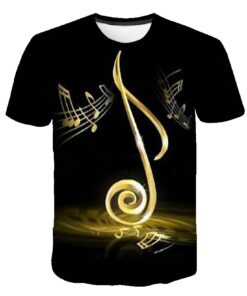 T-Shirt Men Anime Clothes 3d-Guitar Flame Metal Gothic Short-Sleeve New Casual