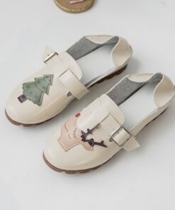 Peas-Shoes Wild Spring Hollow Casual Summer Women's Anime Color Two Can-Wear Matching