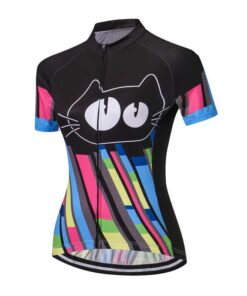 2021 New Funny new Kids more color Cat Cycling Jersey Short Sleeve Bike Shirt Cartoon