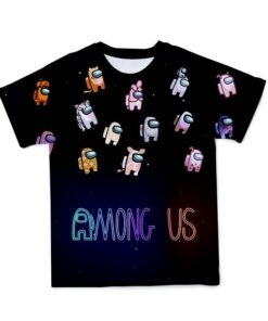 3D T-Shirt Game Among Us Tops Short-Sleeve Anime Summer 110-6XL Tee Customizable Large-Size