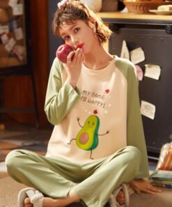 Pajamas Women Korean-Style Long-Sleeved Cute New And Home-Service-Suit Anime Sweet Cartoon
