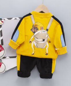 Children's Clothing Suits Boys Cartoon Foreign-Style Anime Sports New