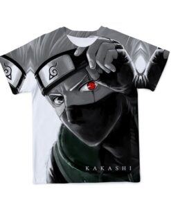 2021Summer New Men'S Clothing Breathable Material 3D Anime Naruto T-Shirt