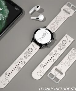 20mm Anime Strap for Samsung Galaxy Watch Active 2 44mm 40mm Gear S3 Frontier Silicone