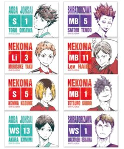Volleyball Sticker Bus-Card Haikyuu Custom Anime Frosted Jelly Crystal 22pcs/Set