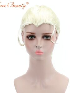"""24"""" Cosplay Elsa Wigs Snow Queen Princess Series Halloween Cos Anime Haired Blonde Pigtails"""