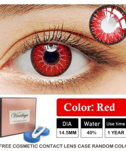 Cosplay Contact-Lenses Eyes Halloween-Color Colored Anime for 2pcs/pair