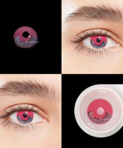 Cosmetics Colored-Contact-Lenses Anime Lenses Eyes Beauty Consplay Bio-Essence Pink Yearly