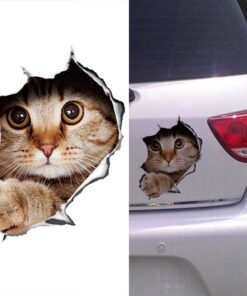 3D Stereo Anime Funny Creative Personality Kitten Cat Simulation Auto Sticker Car Styling
