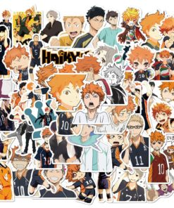 50PCS Anime Haikyuu!! Stickers Pack For DIY Laptop Phone Guitar Suitcase Skateboard PS4 Toy Volleyball Teenager Haikyuu Sticker