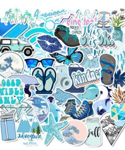 50Pcs Cute Stickers For Laptop Luggage Guitar Phone Bicycle Skateboard Fridge Decals