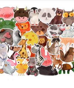 50Pcs Mix Styles Anime Stickers Cute Cartoon Dog Cat Pig DIY Waterproof Decals For Laptop