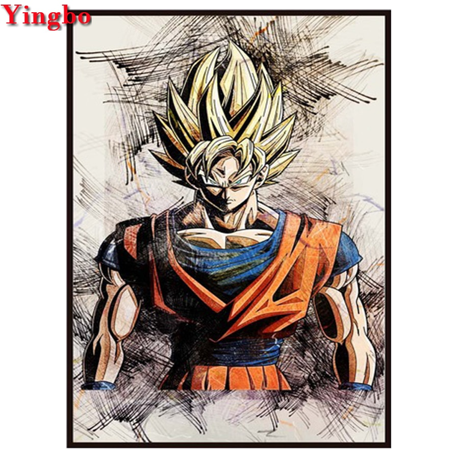 Diamond Embroidery Painting Complete-Kit Home-Decoration Anime Cross-Stitch Full Square