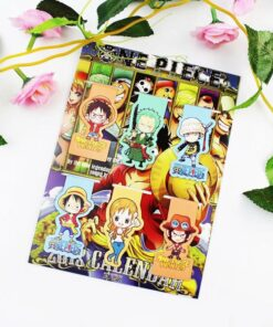 Magnet Bookmark Office-Stationery Anime One-Piece Kawaii Gift Cartoon Student Child 6pcs