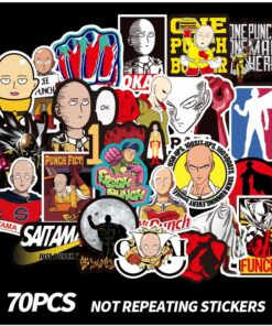Stickers One punch-Man Japanese Anime Laptop Phone-Skateboard Bicycle for Car Cartoon