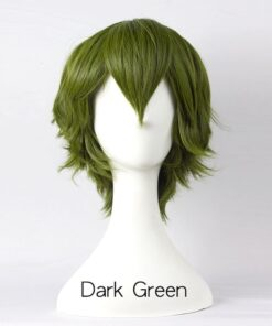 AILIADE 17 colors Short Straight Synthetic Wigs High Temperature Resistance Anime Party
