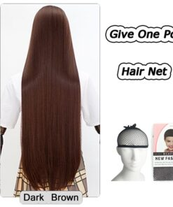 AOSI 26 Colors Colourful 100Cm Long Straight Wig Heat Resistant Synthetic Hair Anime