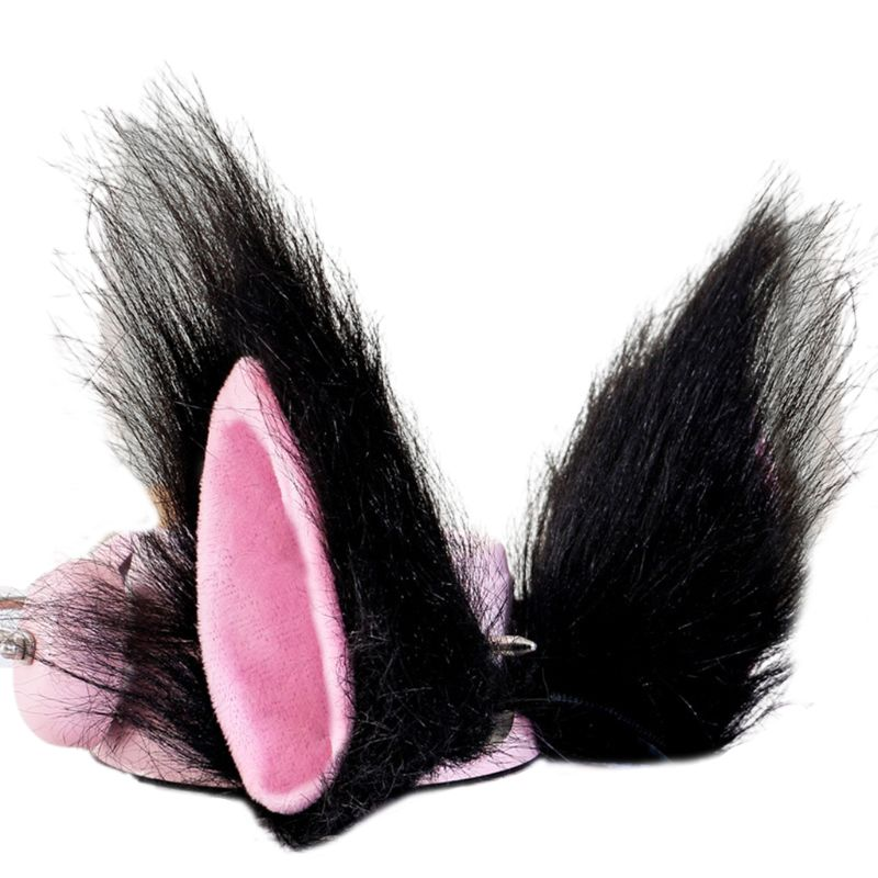 Anime Cosplay Hair-Clips-Prop Wolf Ears Costume Plush Lolita Adult Long 9cm Pointed-Cat