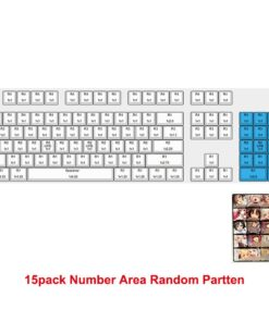 Ahegao Keycaps Japanese Anime PBT Dye Sublimation Hot Swappable For Cherry Mx Mx
