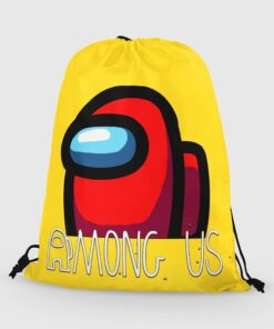 Backpack Cloth Among Action-Toys Drawstring Anime Girls for Students Boys Bags Portable-Organizer