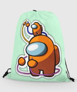 Backpack Bags Drawstring Animation Among Us Girls Boys for Students Cloth Portable-Organizer