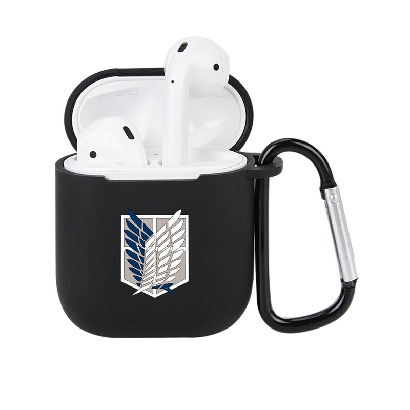 Anime Attack On Giant Apple Airpods Cover Bluetooth Wireless Earphone Cover Charging