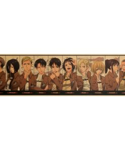 Poster Wallpaper Collection Attack Titan-Character Classic Anime Cartoon