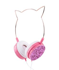 Headphone Headset-Wire Anime Noise Cancelling Girls Kids Sports with Mic Gift for Subwoofer