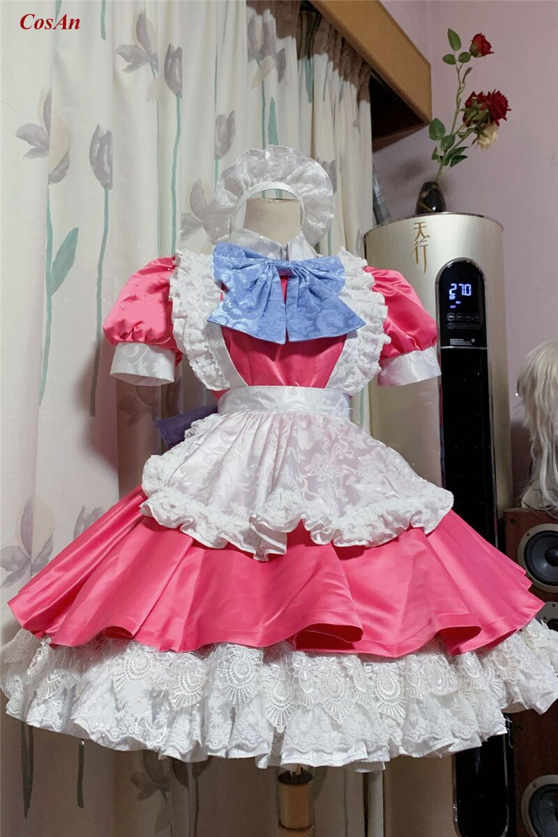 Maid Outfit Role-Play Clothing Costume Custom-Make Demon Slayer Anime Party Lovely Ball