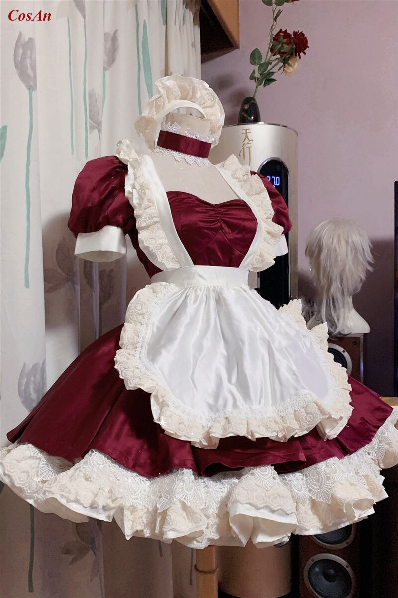 Maid Outfit Role-Play Costume Clothing Custom-Make Demon Slayer Anime Party Lovely Activity
