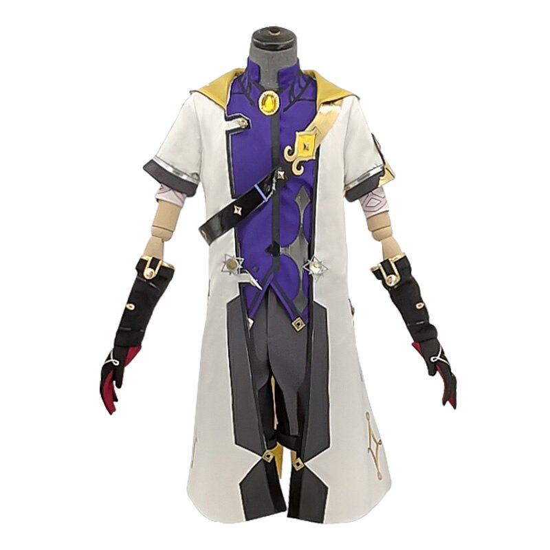 Halloween Outfit Genshin Impact Albedo Cosplay Costume Suit Anime Game for Men New Uniform