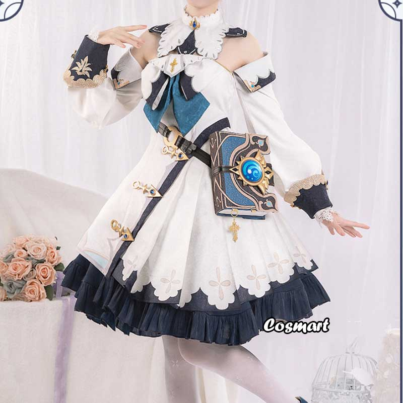 Cosplay Costume Genshin Impact Dress Game-Suit Halloween Outfit Anime Lovely for Women
