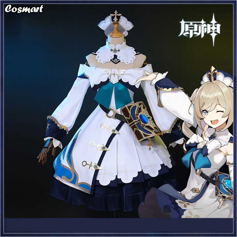 Cosplay Costume Dress Barbara Genshin Impact Game-Suit Halloween Outfit Anime Lovely
