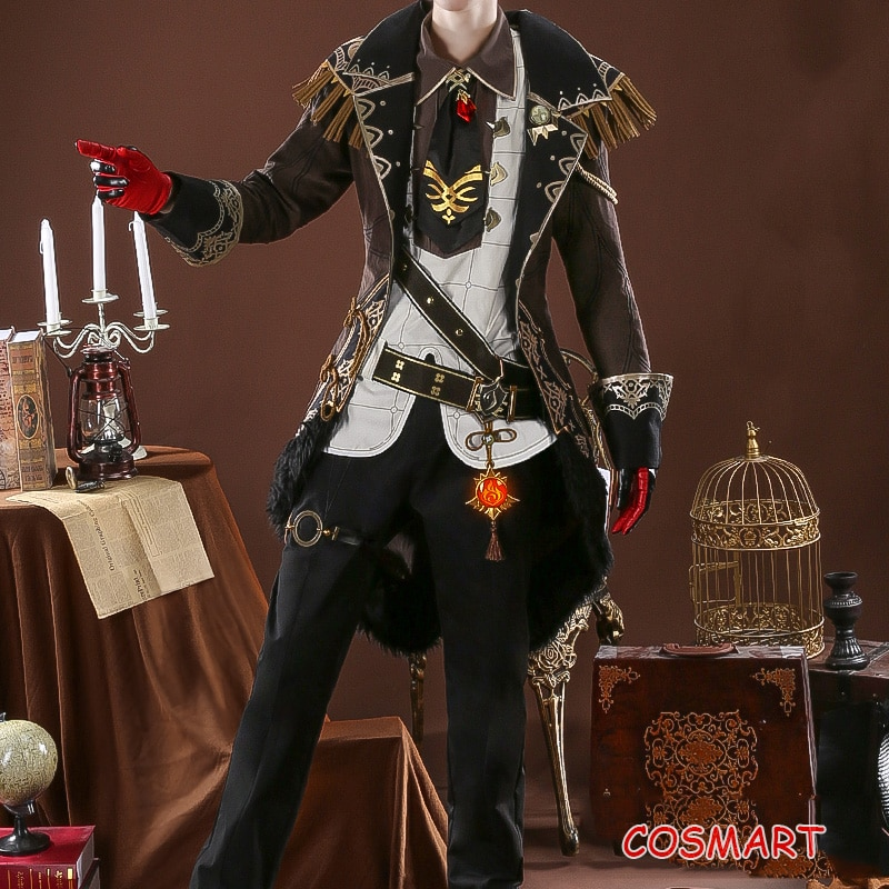 Costume Halloween Party-Outfit Uniform Cosplay Genshin Impact Diluc Game-Suit Anime Men